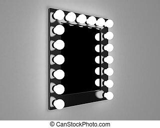 Make Up Stoel : Muur makeup studio black spiegel lampen witte stoel