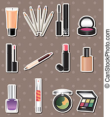 makeup, stickers, spotprent