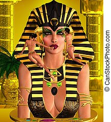 Makeup the Pharaoh Queen