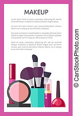 Makeup Tools and Decorative Elements Promo Poster - Makeup...