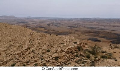 Makhtesh Ramon crater made from a meteor - View from Mitzpe...
