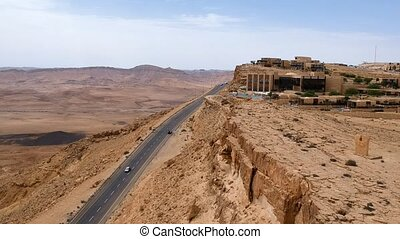 Makhtesh Ramon view from Mitzpe Ramon in the Israeli Negev...