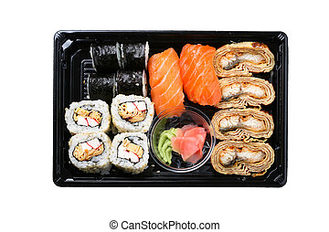 Maki box - Stock Photo: Asia and food: Maki on plate