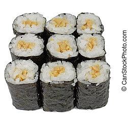 Maki rolls - Group of Japanese sushi rolls (maki rolls) ...
