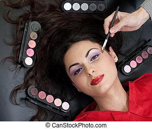 makijaż, brew, rutyna