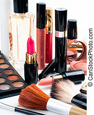 makijaż, i, kosmetyki, komplet