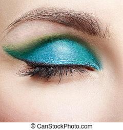 makijaż, oko, pas, babski