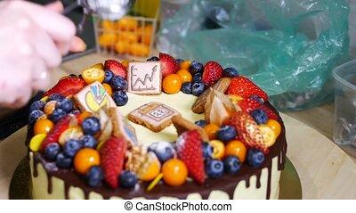Making a birthday cake