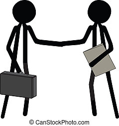 making a business deal