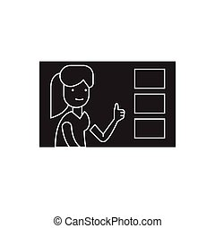 Making a choice black vector concept icon. Making a choice flat illustration, sign
