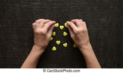 Making a heart from buttons