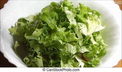 Making a Salad - making salad, salad, salad dressing, salad...