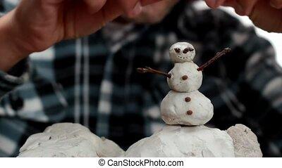 snowman  - making a snowman miniature