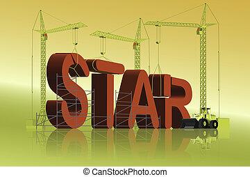 making  a star