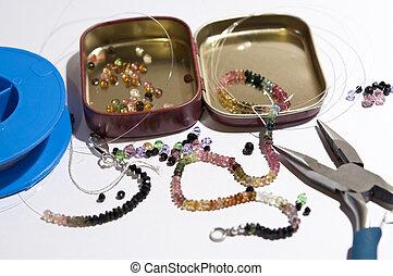 Tourmaline necklace - Making a Tourmaline necklace
