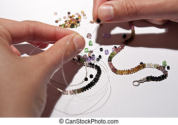 Making a Tourmaline necklace