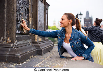 making a wish in prague
