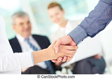 Making agreement - Photo of handshake of business partners ...