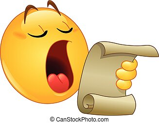 Making an announcement emoticon