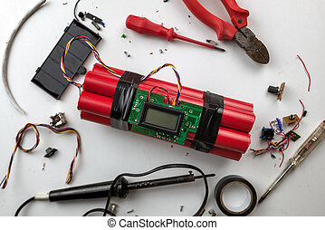 bomb - making bomb with digital timer