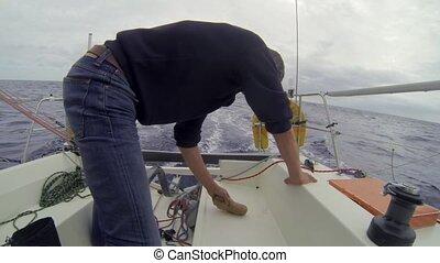 Making bread at sea