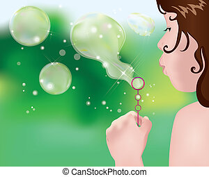 making bubbles