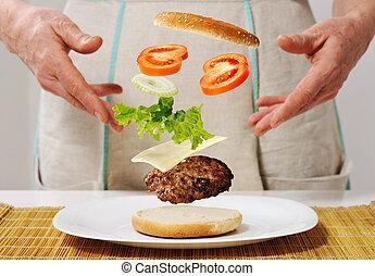 Making burger skills