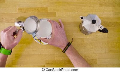 Making cappuccino without an espresso machine