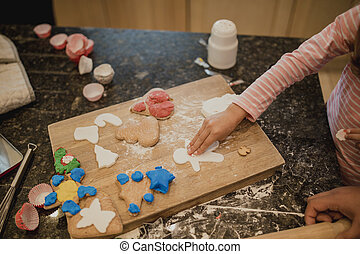 Making Christmas Biscuits