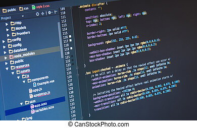 Making Css3 code in IDE, close up