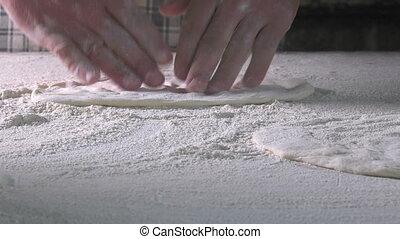 Making Dough with Flour to Make Turkish Pita