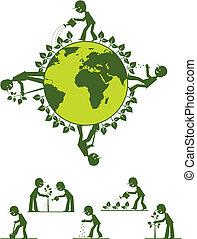 Making Earth green