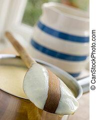 Making Fresh English Vanilla Custard