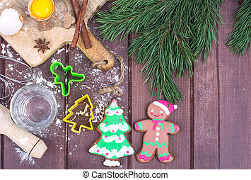 Making gingerbread and cookies for Christmas and New Year