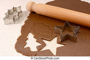 Making gingerbread biscuits