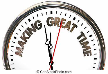 Making Great Time Progress Speed Clock 3d Illustration