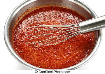 making kimchi process