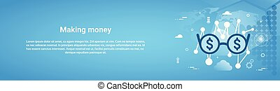 Making Money Business Concept Horizontal Web Banner With Copy Space