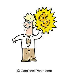 making money cartoon
