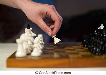 Making move with white pawn on board