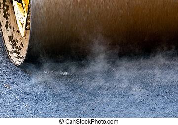 Roller press fresh tar
