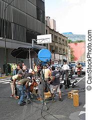 Making of a commercial clip. Caracas, Venezuela, June 2008