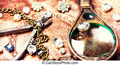Making of handmade jewellery - jewellery making with...