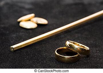 Making of wedding rings