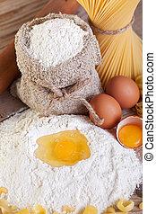 Making pasta from natural ingredients