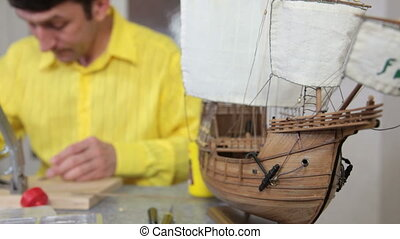 making replica model of ship