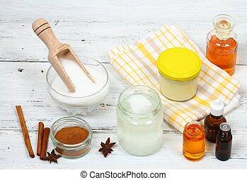 Making sugar scrub bars for clear soft skin