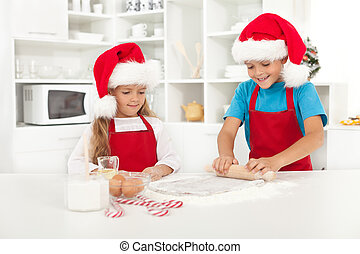 Making surprise christmas cookies