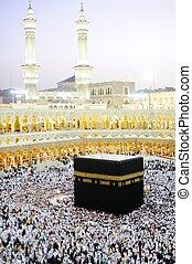 Makkah Kaaba Hajj Muslims - Islamic Holy Place