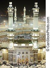 Makkah Kaaba minarets - Islamic Holy Place - series of the ...